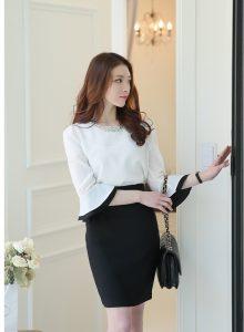 Công thức phối màu quần áo nữ công sở gam trắng hot nhất