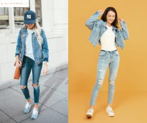phoi do voi ao khoac jeans