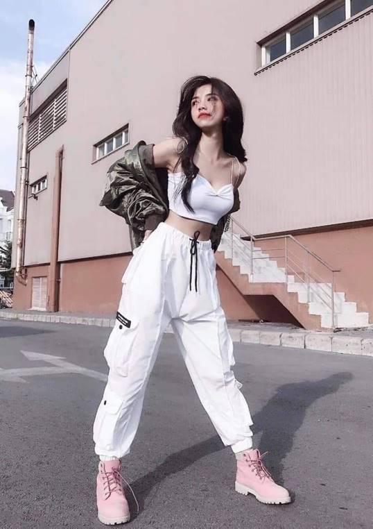phong cach streetwear nu
